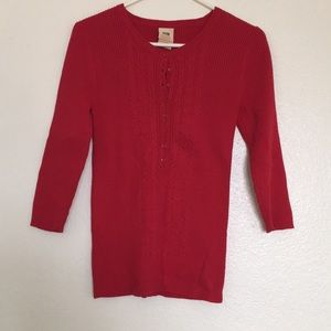 Beautiful Red Sweater with Buttons!